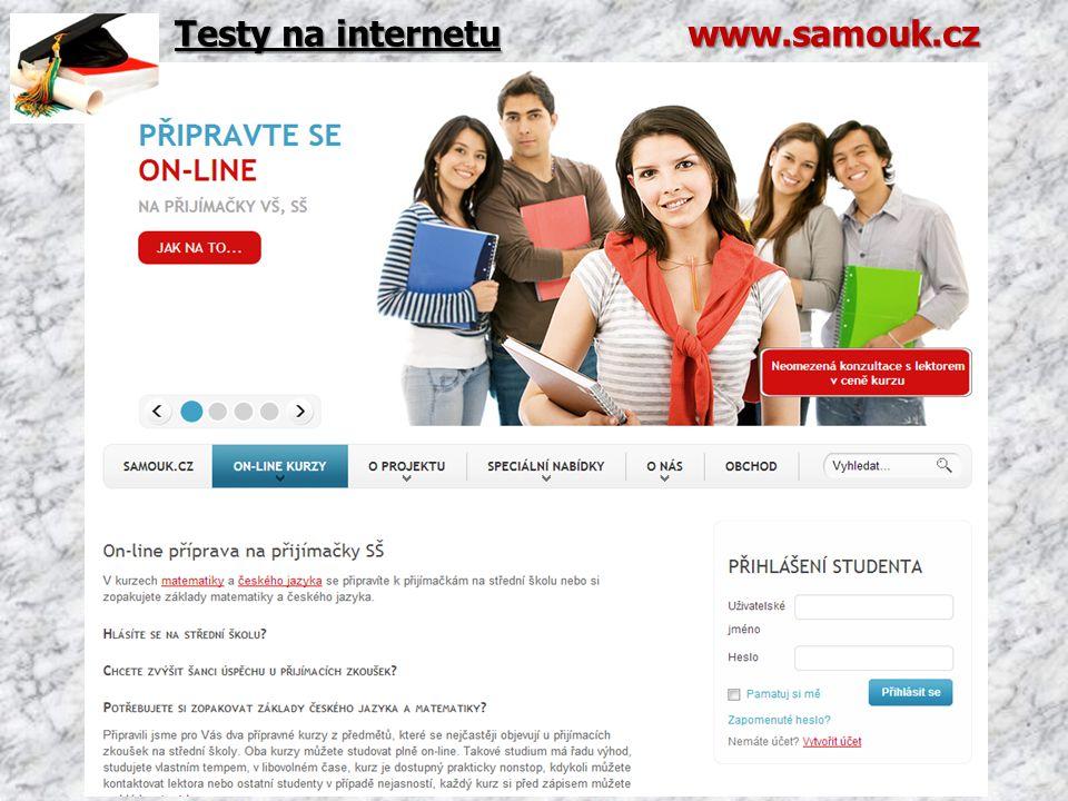 Testy na internetu www.samouk.cz