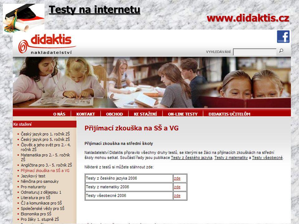 Testy na internetu www.didaktis.cz