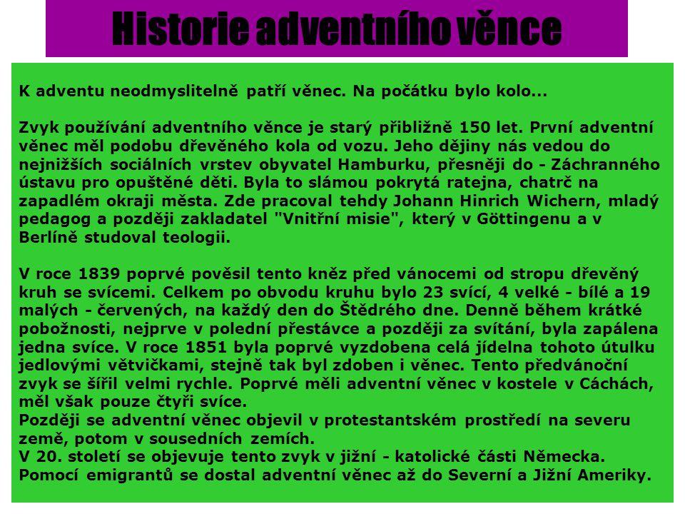 Historie adventního věnce