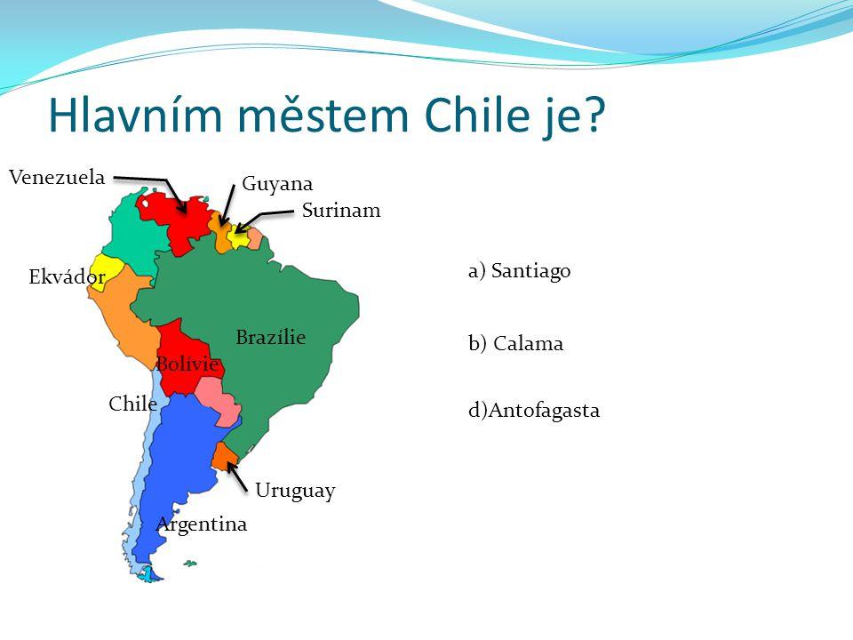 Hlavním městem Chile je