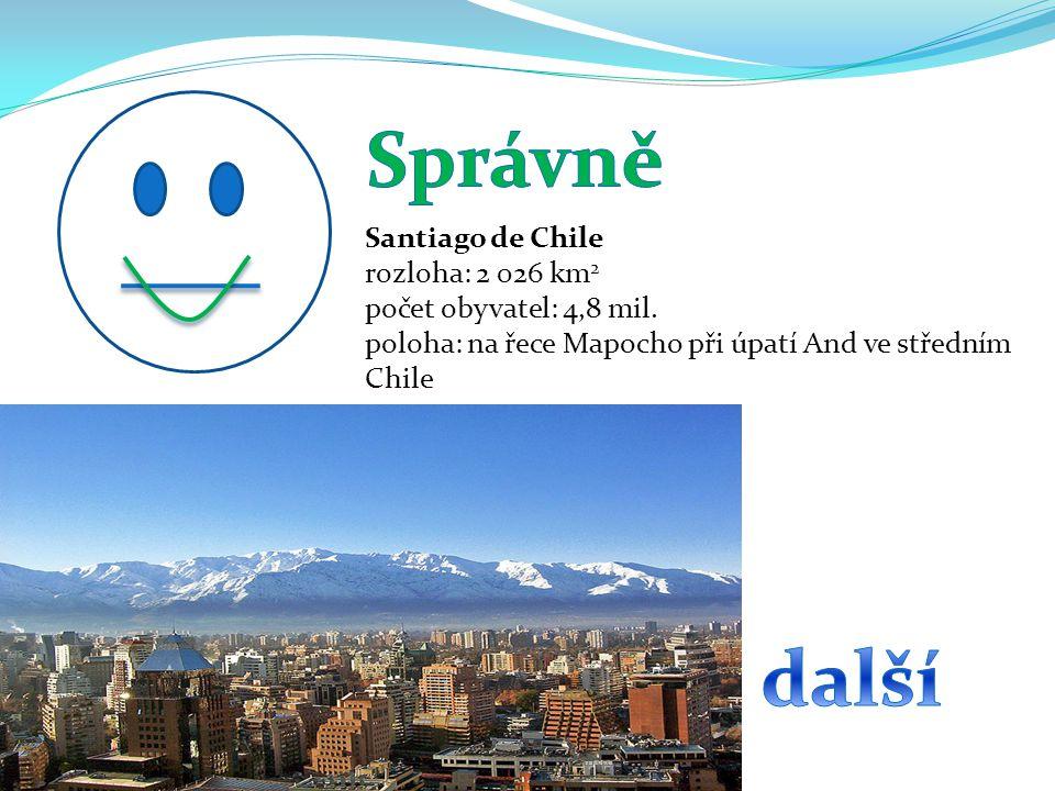 Správně další Santiago de Chile rozloha: 2 026 km2