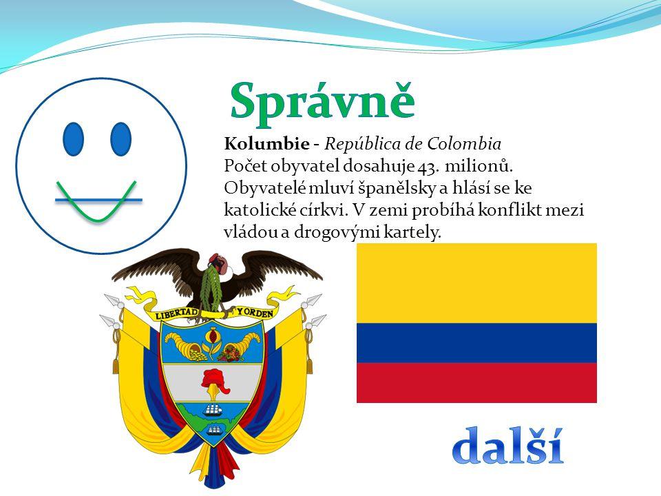 Správně další Kolumbie - República de Colombia