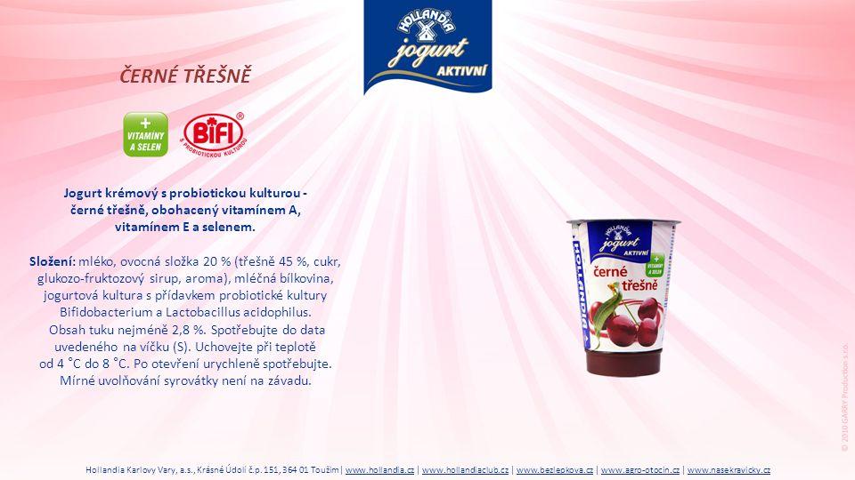 ČERNÉ TŘEŠNĚ Jogurt krémový s probiotickou kulturou -