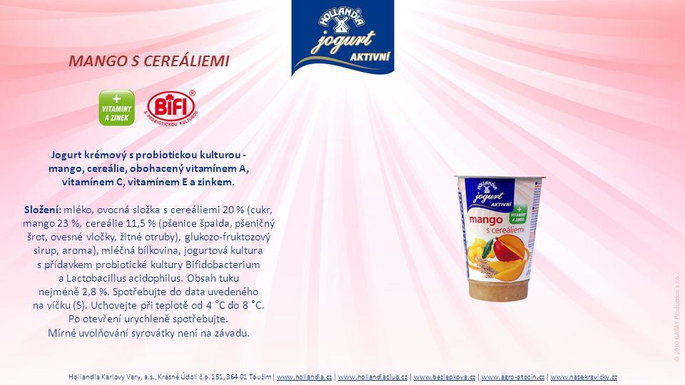 MANGO S CEREÁLIEMI Jogurt krémový s probiotickou kulturou -