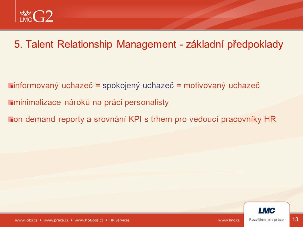 5. Talent Relationship Management - základní předpoklady