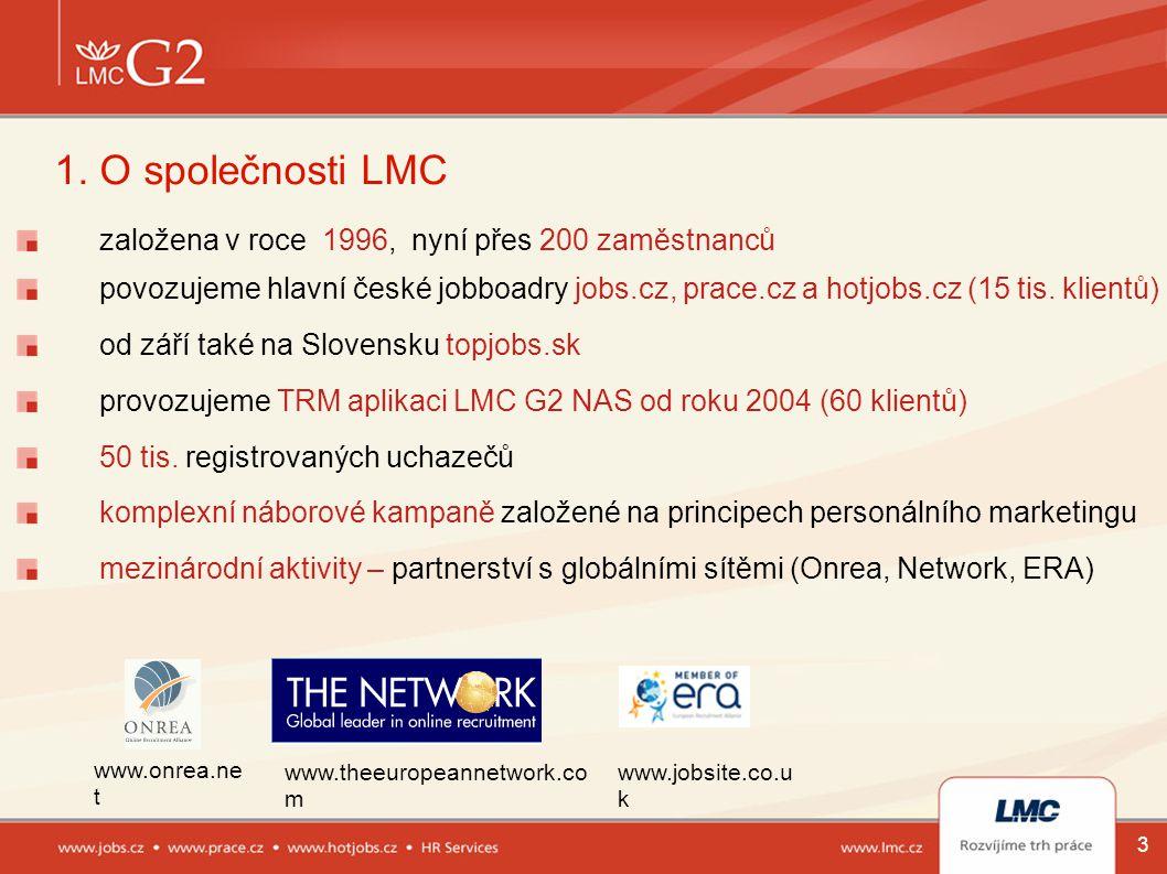 1. O společnosti LMC založena v roce 1996, nyní přes 200 zaměstnanců