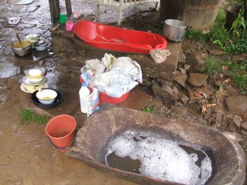 Prádelna, koupelna a myčka nádobí