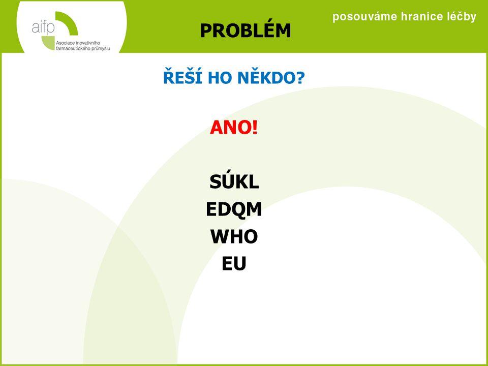 PROBLÉM ANO! SÚKL EDQM WHO EU