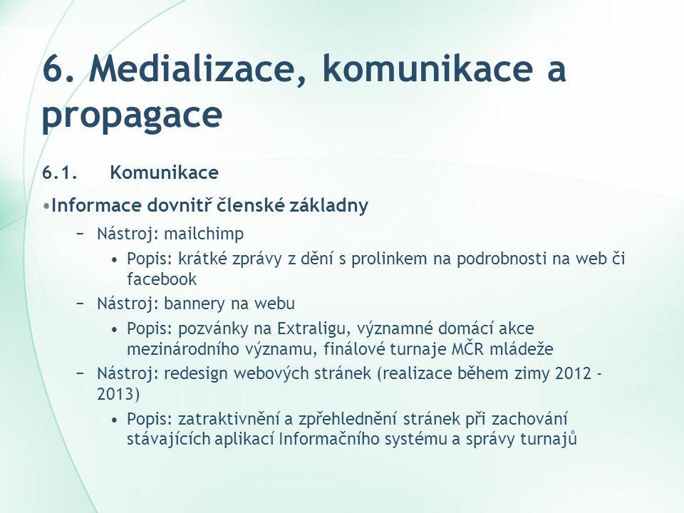 6. Medializace, komunikace a propagace