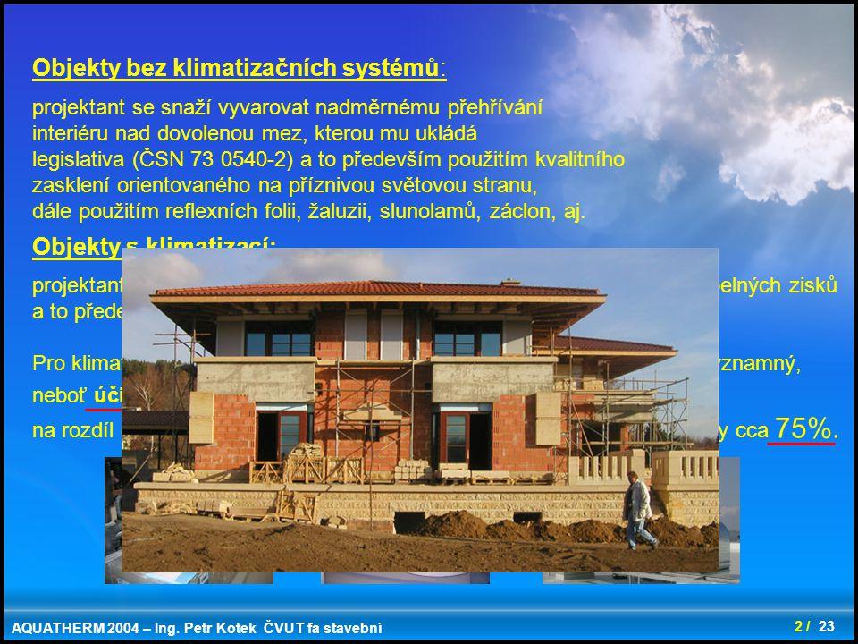Objekty bez klimatizačních systémů: