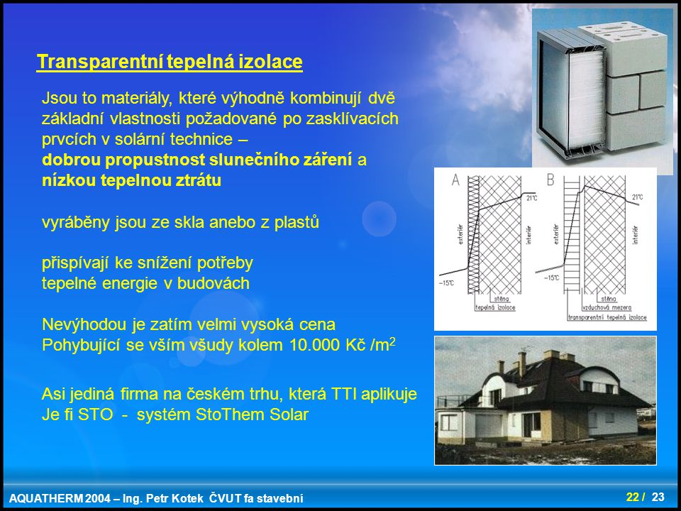Transparentní tepelná izolace