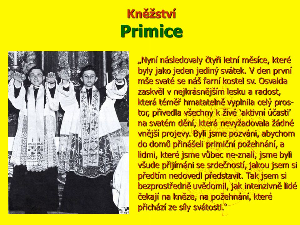 Kněžství Primice