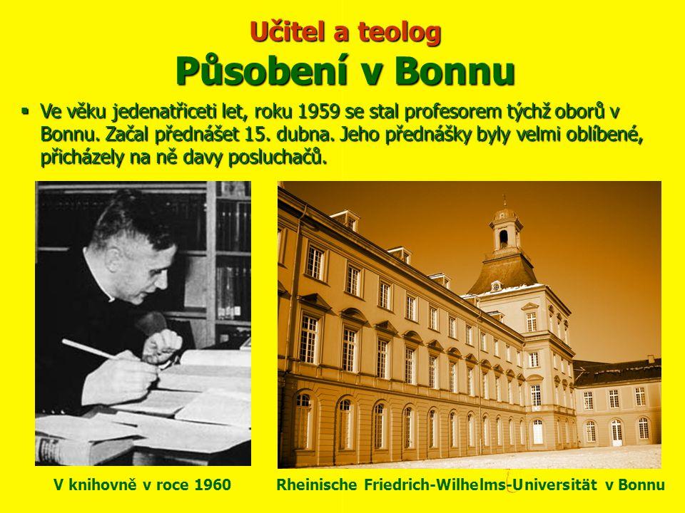 Učitel a teolog Působení v Bonnu