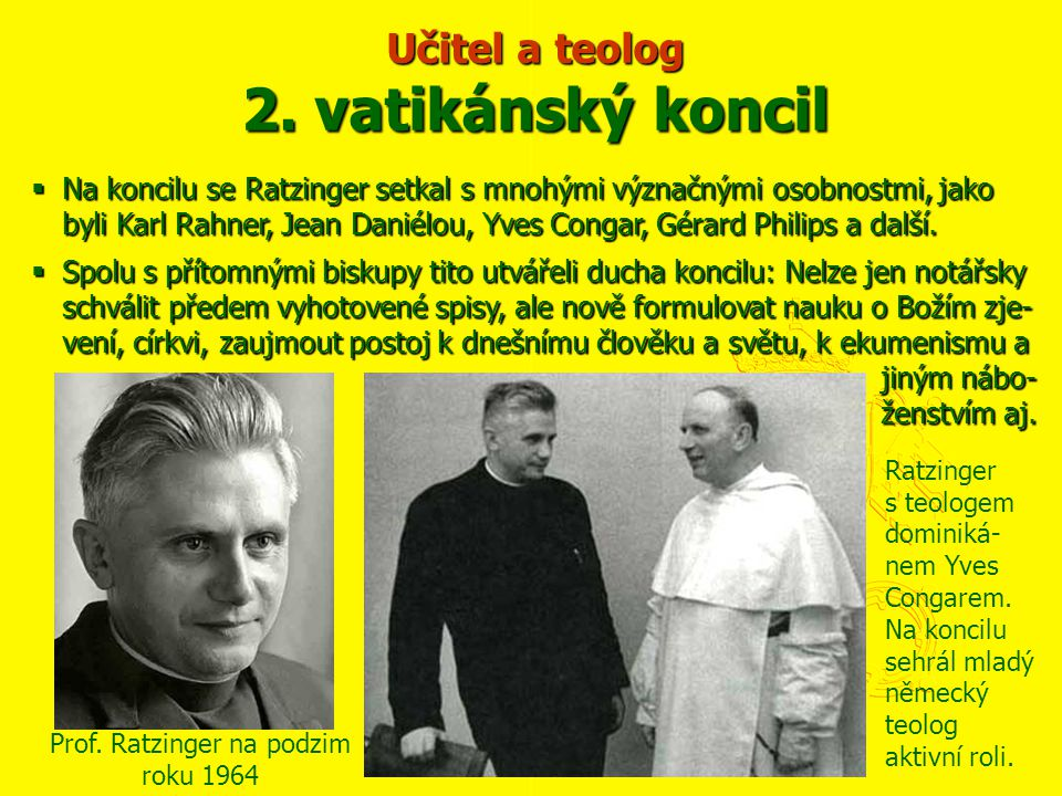Učitel a teolog 2. vatikánský koncil