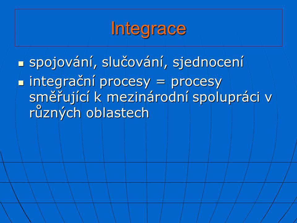 Integrace spojování, slučování, sjednocení