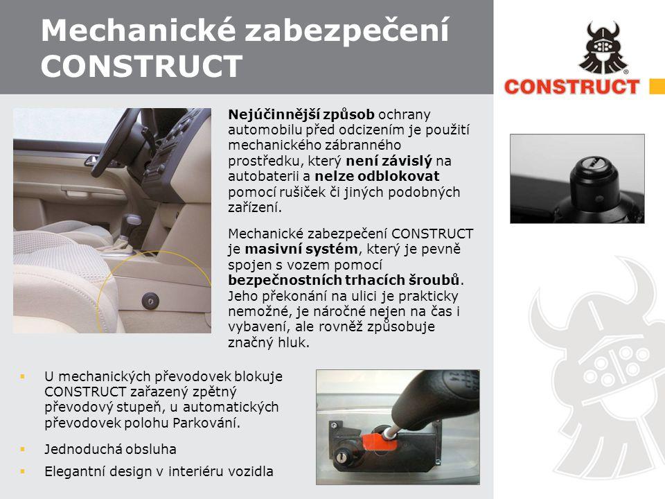 Mechanické zabezpečení CONSTRUCT