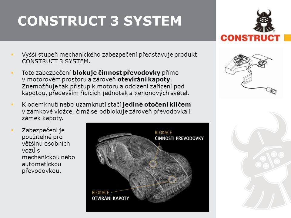 CONSTRUCT 3 SYSTEM Vyšší stupeň mechanického zabezpečení představuje produkt CONSTRUCT 3 SYSTEM.