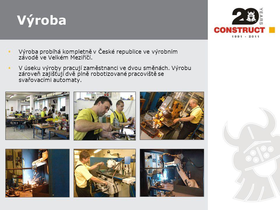 Výroba Výroba probíhá kompletně v České republice ve výrobním závodě ve Velkém Meziříčí.