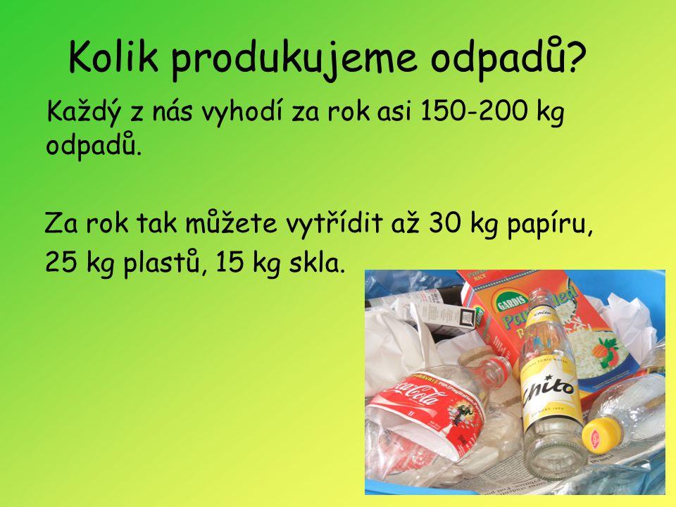Kolik produkujeme odpadů