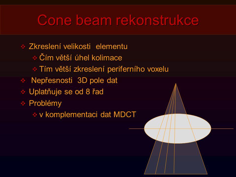 Cone beam rekonstrukce