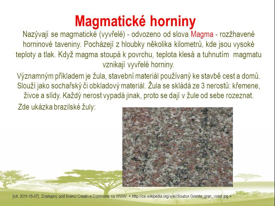 Magmatické horniny
