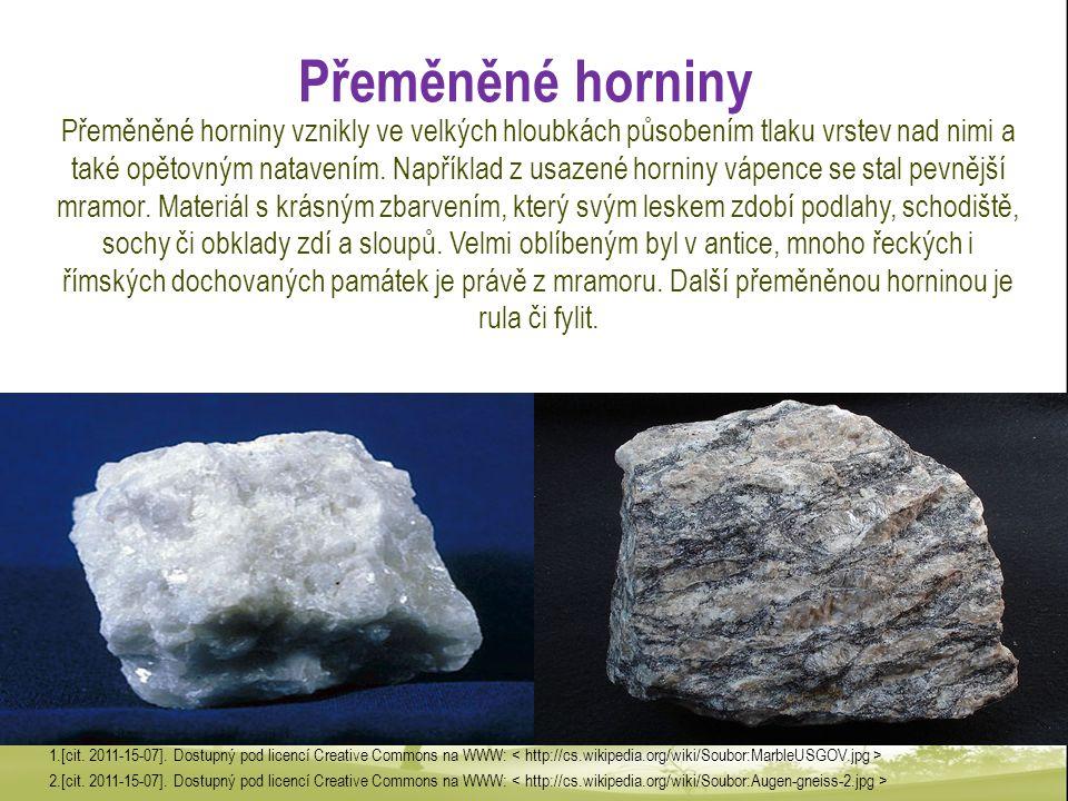 Přeměněné horniny