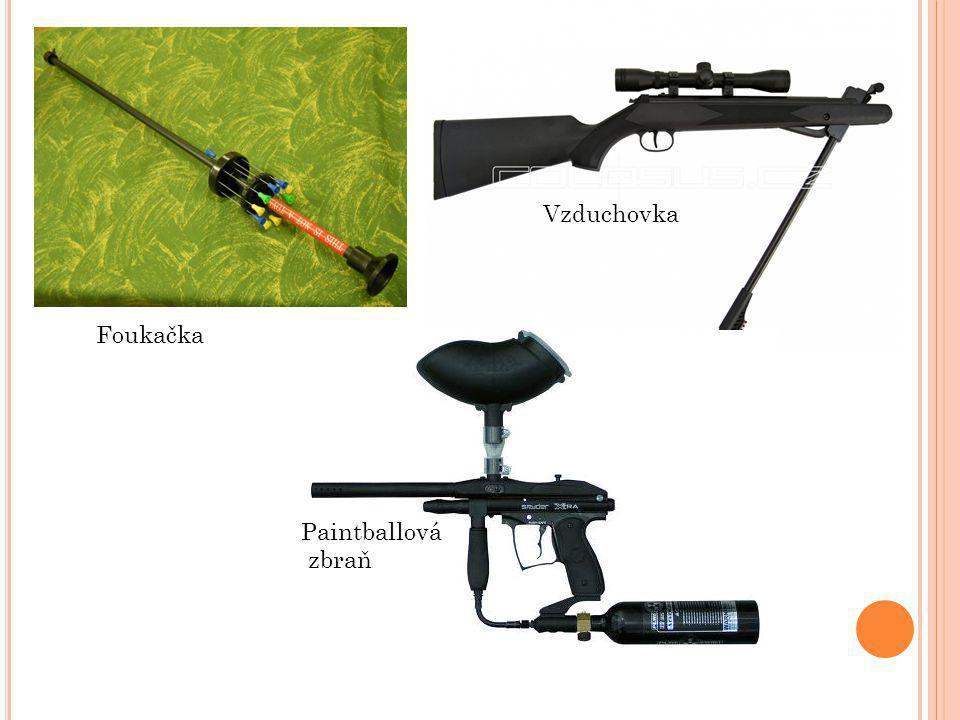 Vzduchovka Foukačka Paintballová zbraň