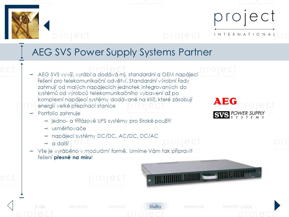 AEG SVS Power Supply Systems Partner