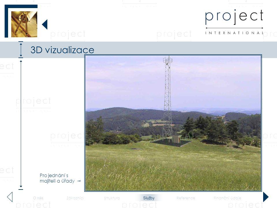 3D vizualizace - telekomunikace