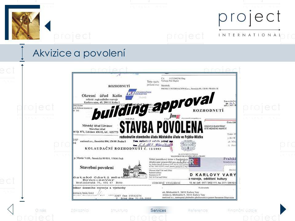 Akvizice a povolení building approval Services