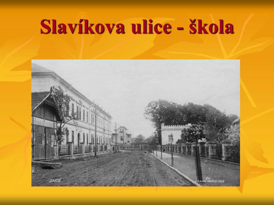 Slavíkova ulice - škola