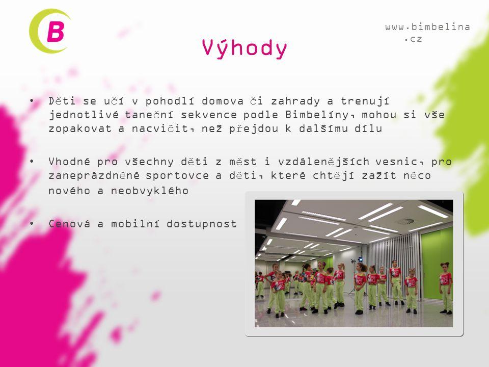 Výhody www.bimbelina.cz.