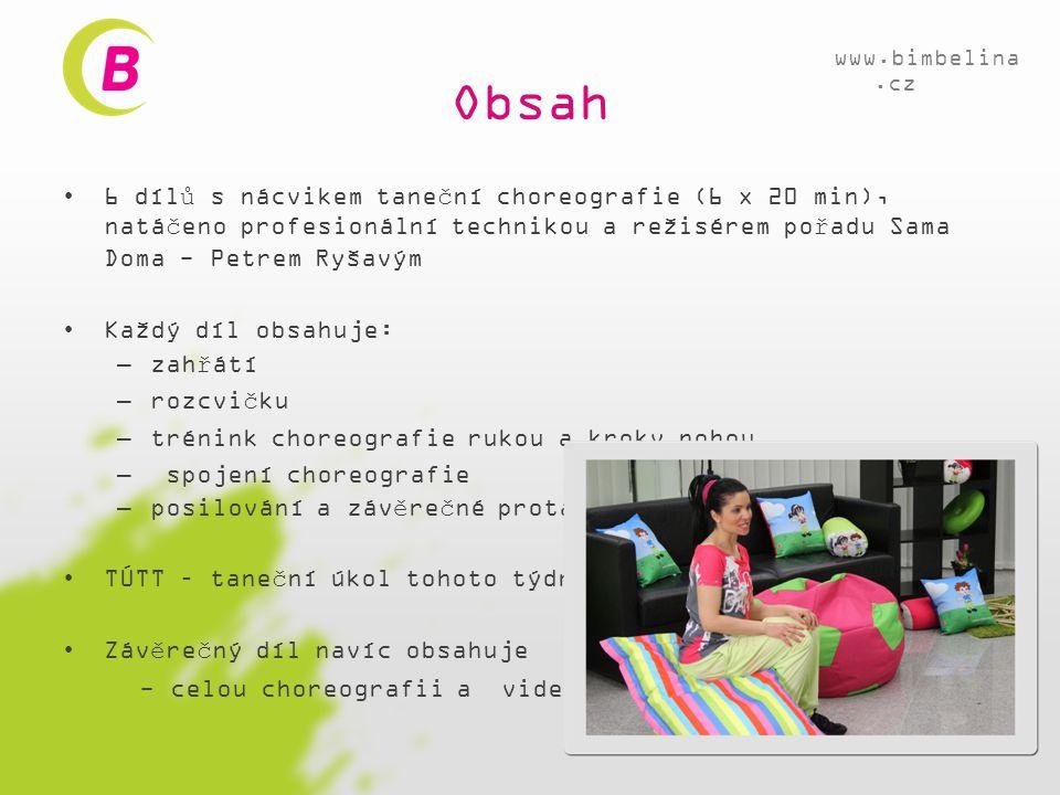 Obsah www.bimbelina.cz.