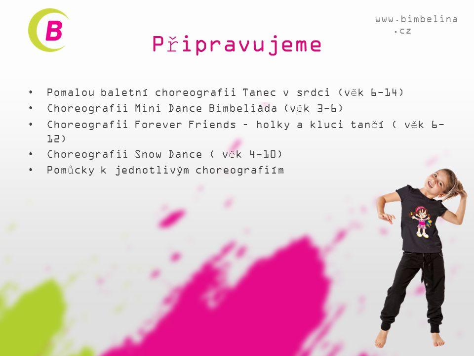 Připravujeme Pomalou baletní choreografii Tanec v srdci (věk 6-14)