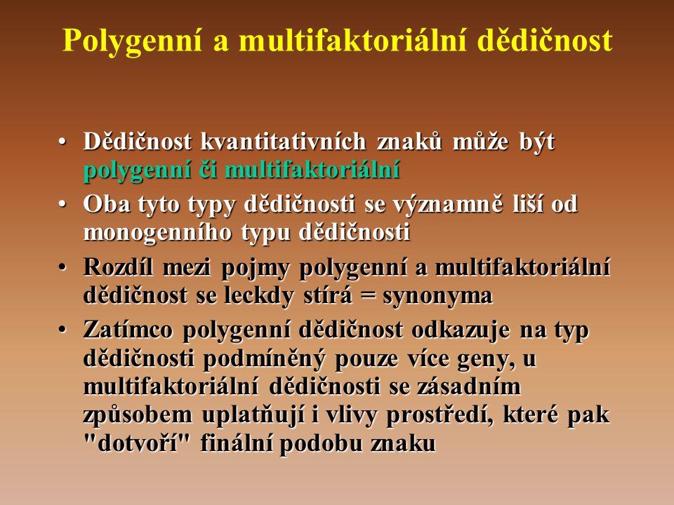 Polygenní a multifaktoriální dědičnost