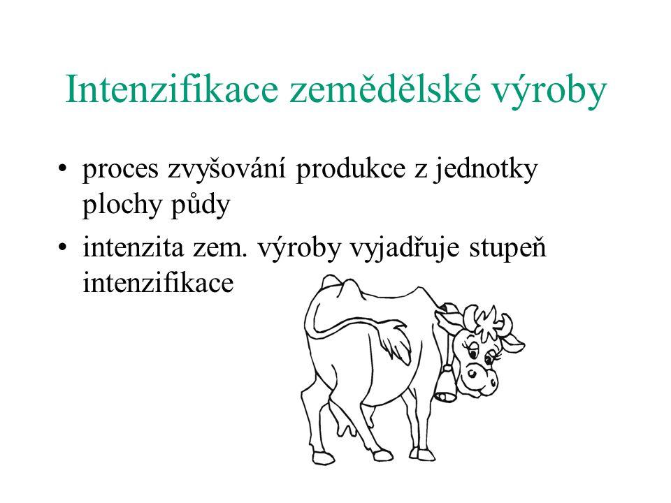 Intenzifikace zemědělské výroby