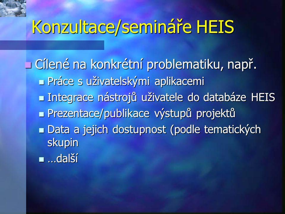 Konzultace/semináře HEIS