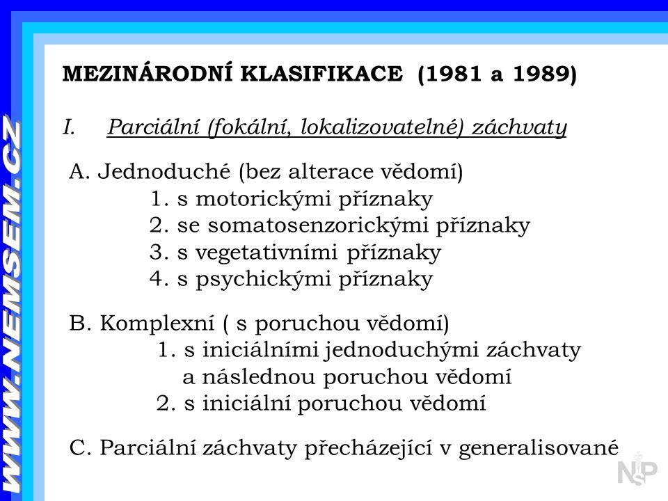WWW.NEMSEM.CZ MEZINÁRODNÍ KLASIFIKACE (1981 a 1989)