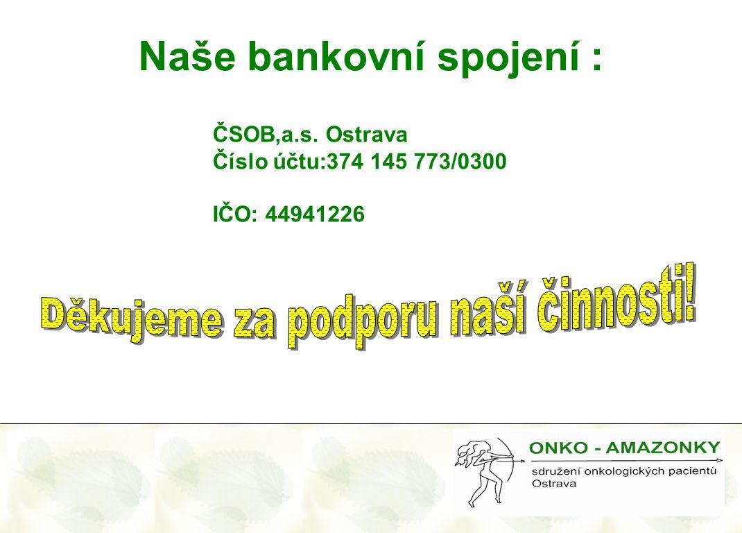 Naše bankovní spojení :