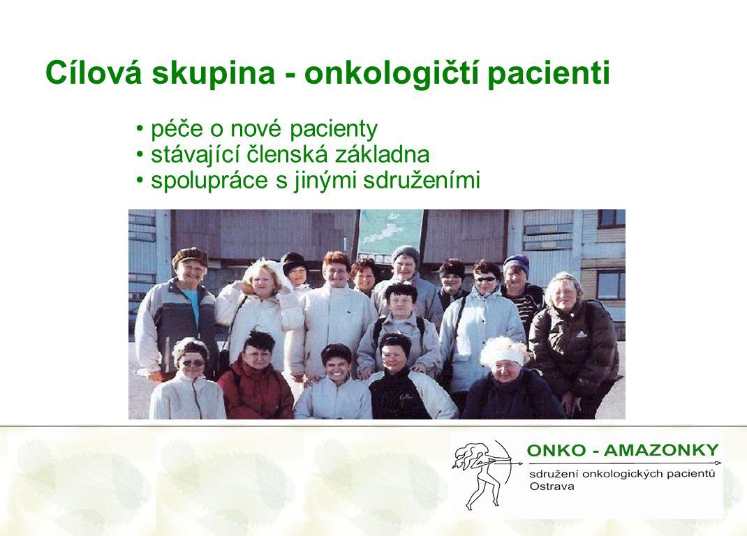 Cílová skupina - onkologičtí pacienti