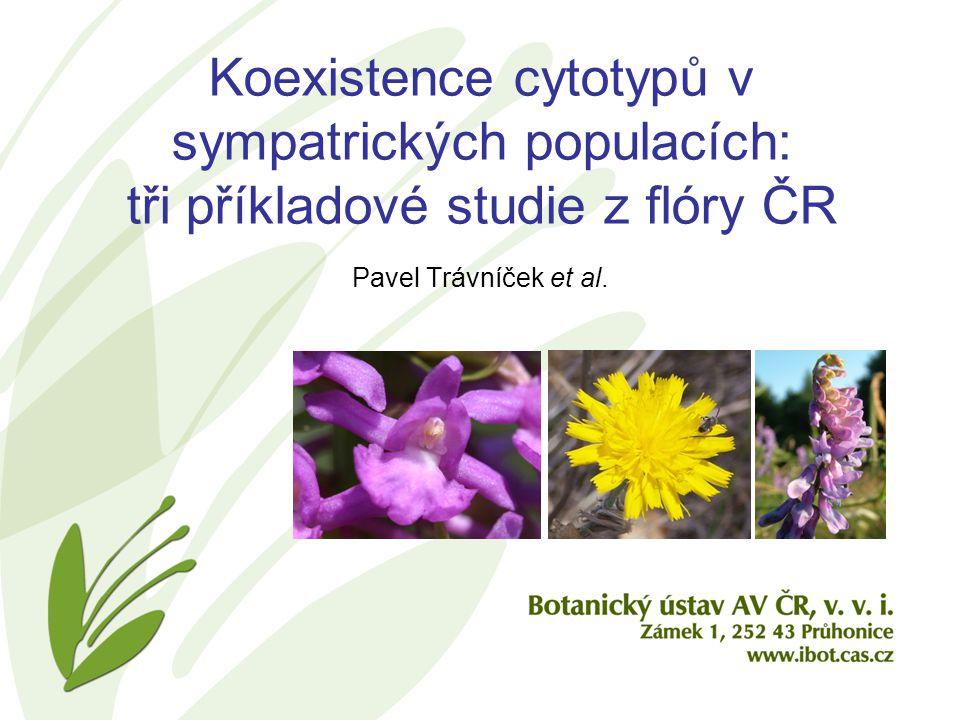 Koexistence cytotypů v sympatrických populacích: tři příkladové studie z flóry ČR