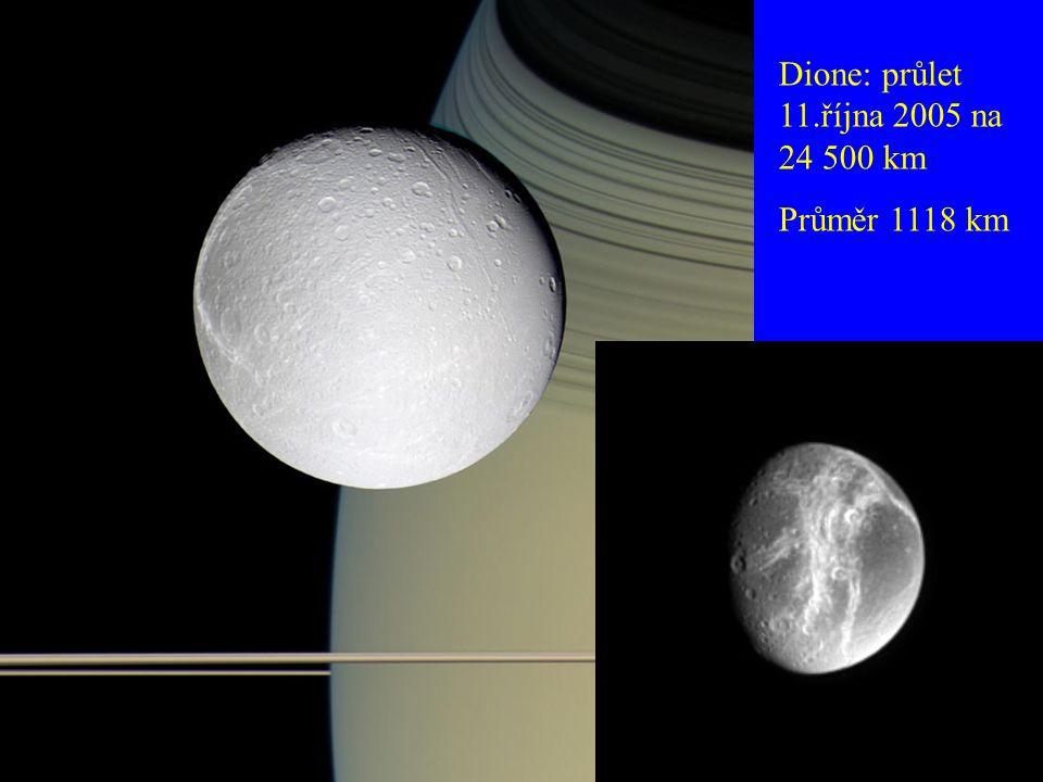 Dione: průlet 11.října 2005 na 24 500 km