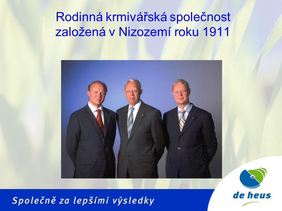 Rodinná krmivářská společnost založená v Nizozemí roku 1911