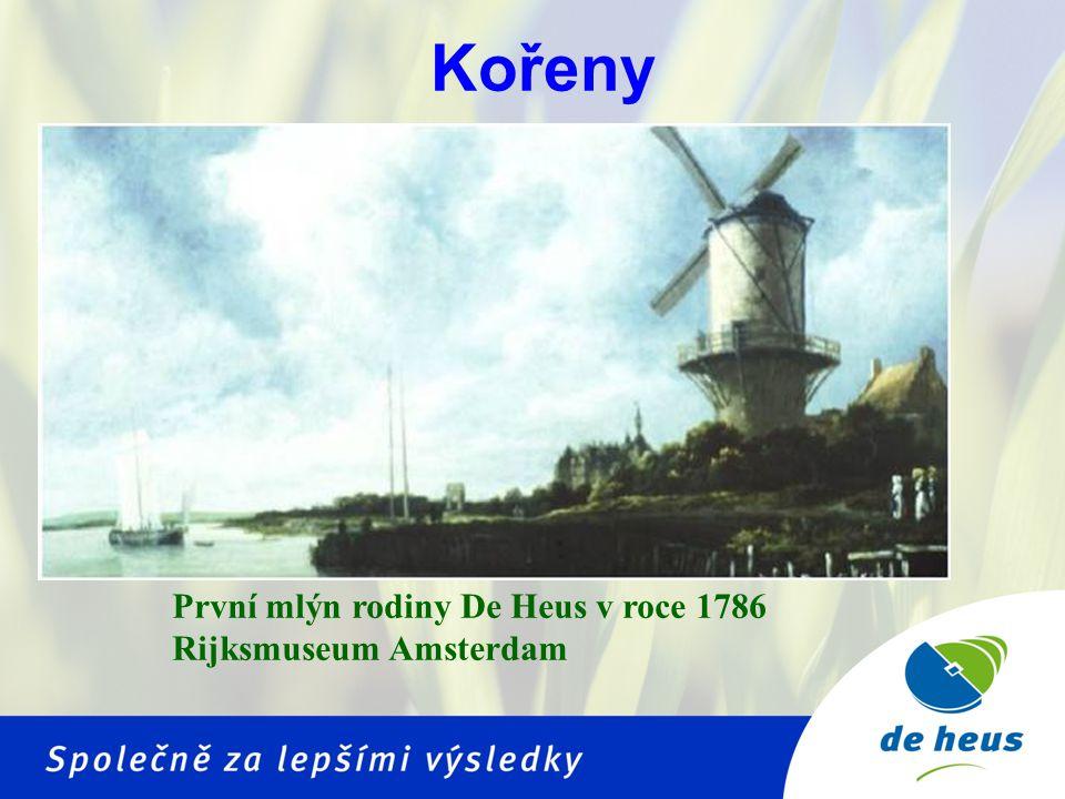 Kořeny První mlýn rodiny De Heus v roce 1786 Rijksmuseum Amsterdam