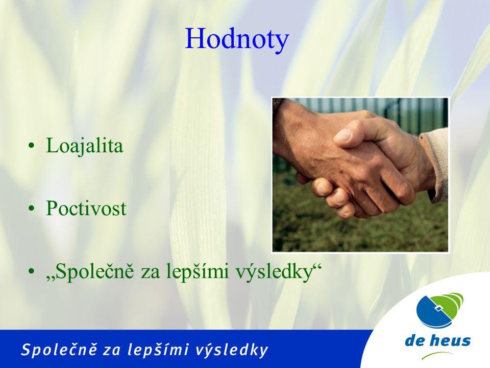 """Hodnoty Loajalita Poctivost """"Společně za lepšími výsledky"""
