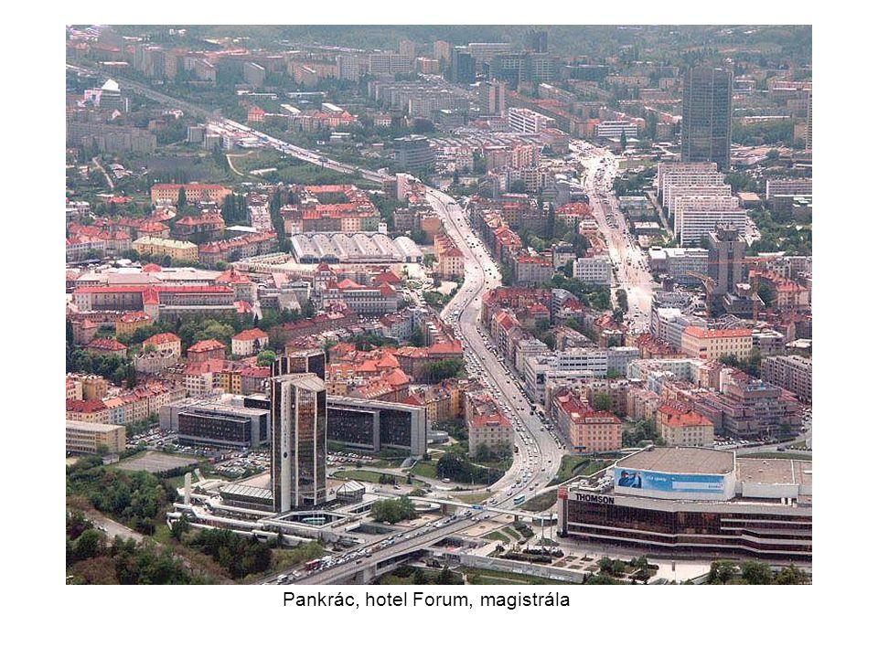 Pankrác, hotel Forum, magistrála