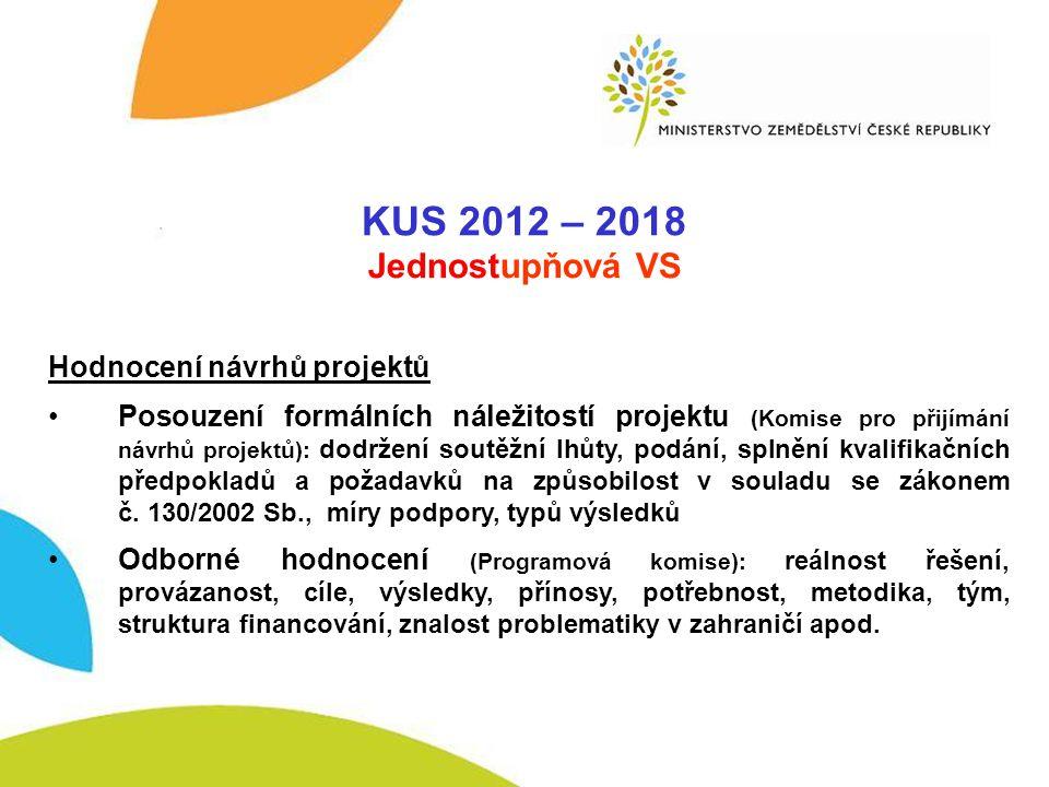 VSAK 2012-2017 KUS 2012 – 2018 Jednostupňová VS