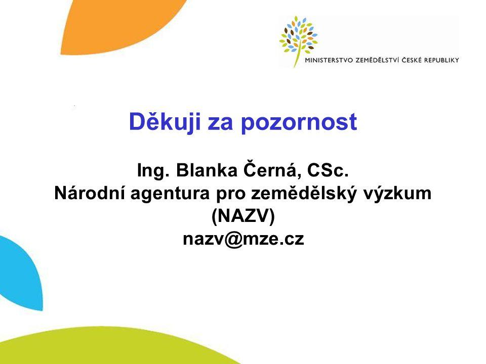 Národní agentura pro zemědělský výzkum (NAZV)