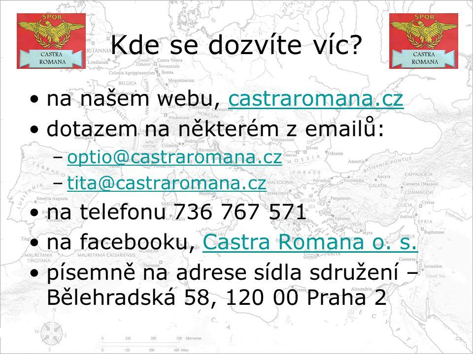 Kde se dozvíte víc na našem webu, castraromana.cz