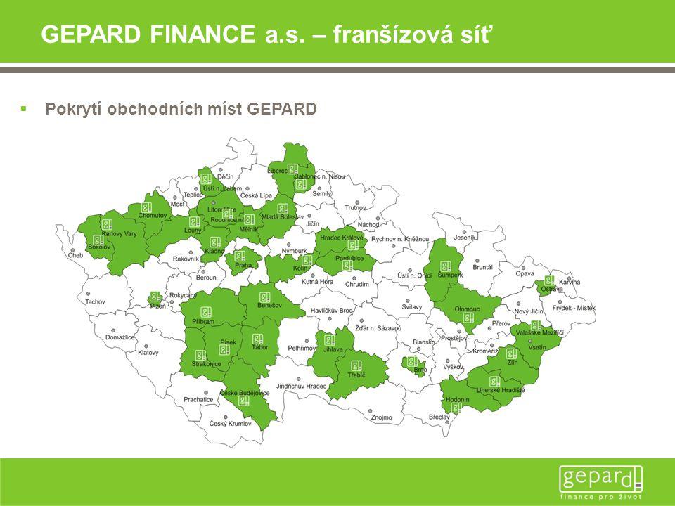 GEPARD FINANCE a.s. – franšízová síť